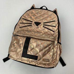 Justice golden cat backpack